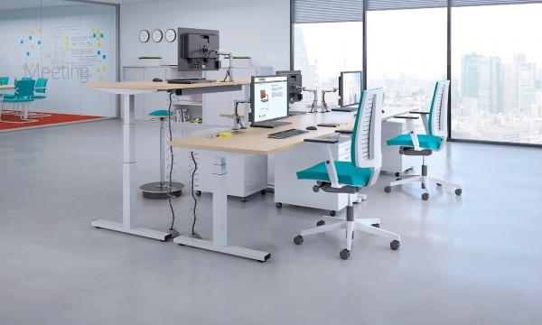 Sitz-Steh-Tisch höhenverstellbarer Schreibtisch