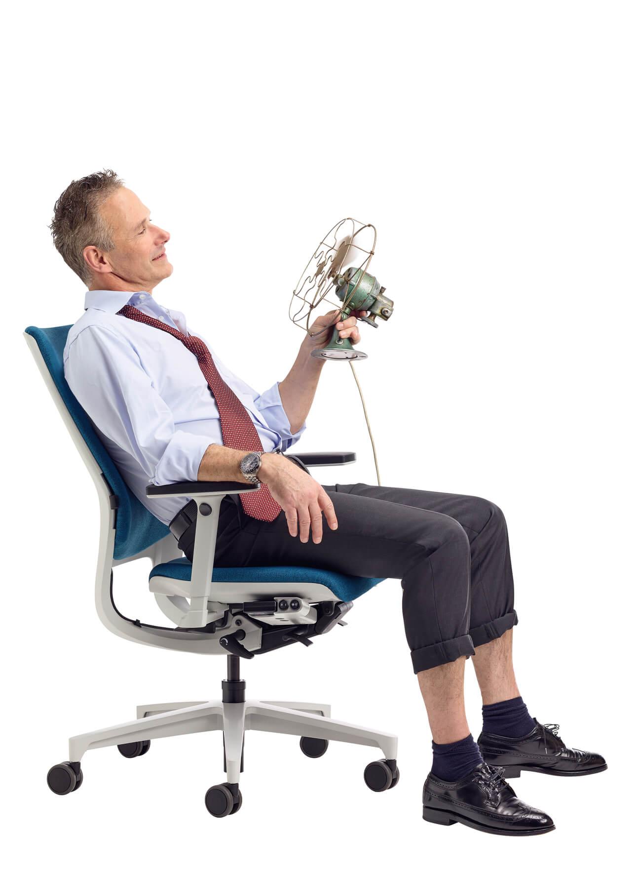 Lösung für Hitze im Office klimatisierter Bürostuhl